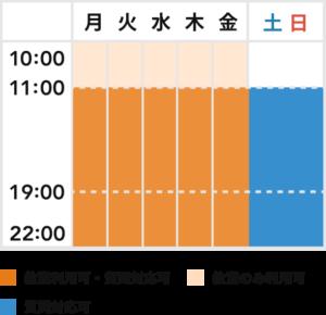 短期集中×オンラインプラン各種スケージュール表
